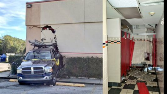 Truck slams into Chuck E. Cheese in heart of Orlando's tourist district