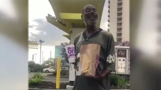 Viral video: Homeless man steals hearts with version of 'Happy Birthday'