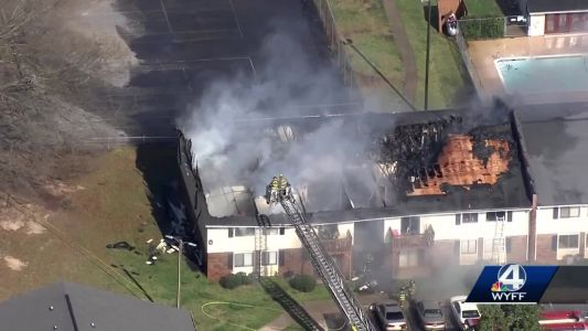 Fire guts several apartments in Upstate complex