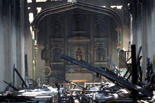 San Gabriel Mission ravaged in early morning fire