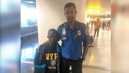 TSA officers buy shirt for boy who left home without one
