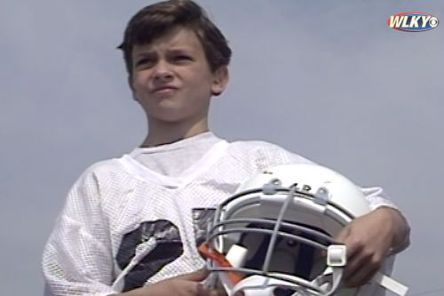 A deaf boy's football dreams came true in 1994 thanks to a leap in technology