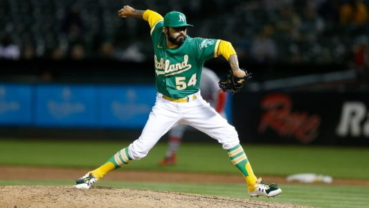 Athletics' Sergio Romo one-ups Max Scherzer, drops pants during substance check
