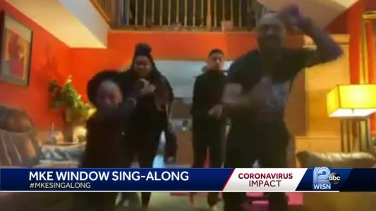 """Residents beat cabin fever by simultaneously singing """"ABC"""""""