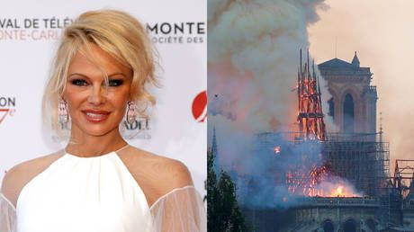 'Buying stairway to heaven?' Pamela Anderson slams the rich for self-serving Notre Dame donations