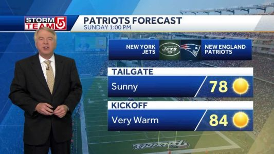 Video: Sunny, clear skies for Patriots game at Gillette