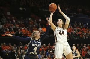 No. 4 Oregon St. downs Utah St. 74-46 for 9th straight win