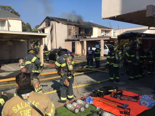 Fire Damages Apartment at Acosta Plaza in Salinas