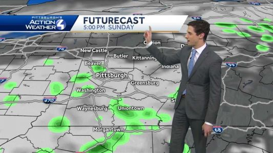 Cloudy tonight, light rain showers Sunday