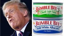 Trump Says Protesters In Democratic-Run Cities Will Throw 'Bumble Bee Brand Tuna' At You