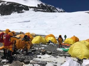 Trash Mountain: Abandoned tents add to detritus on Everest