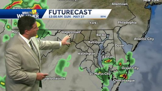 Heat, humidity, scattered t'storms return Sunday