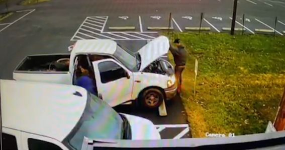 CAUGHT ON CAMERA: Thieves target local church van used to transport congregation members
