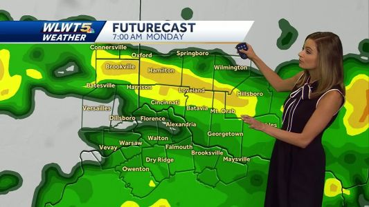 Soggy and cool start to the workweek