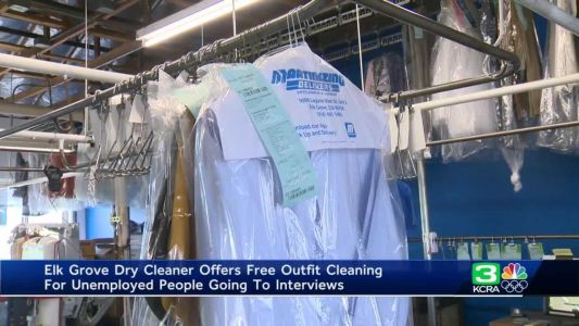 Elk Grove business offers free dry cleaning to unemployed people going to interviews