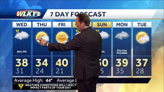Accumulating snow Wednesday into late Wednesday