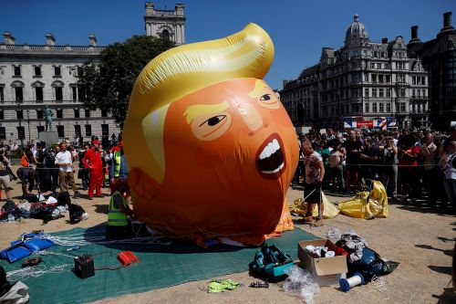 Trump baby blimp lands at London museum