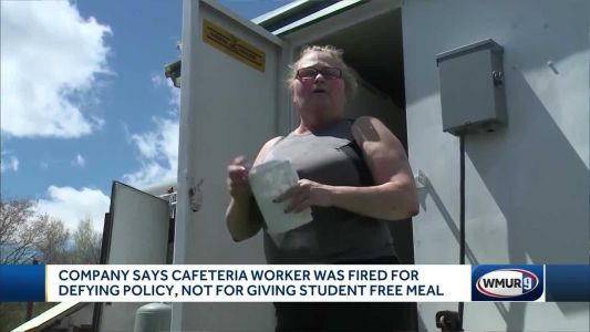 Company says cafeteria worker was fired for violating policy, not for giving free lunch