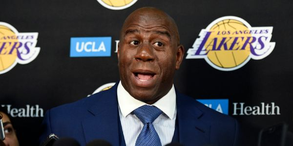 Magic Johnson sat in his car for an hour before meeting LeBron James to discuss his free agency in order to avoid tampering issues
