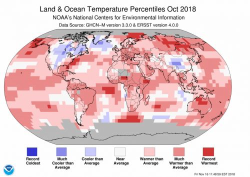 Global temperatures have been above average for 406 months in a row