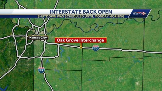 I-70 at Oak Grove reopens after bridge demolition