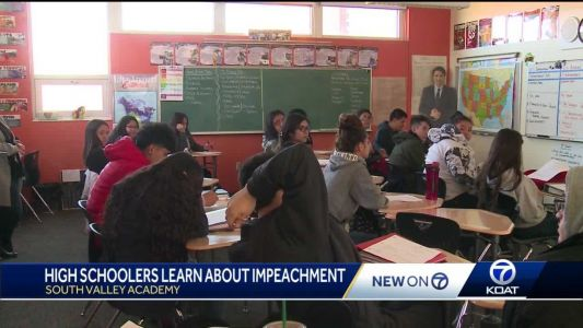 'I'm living through history': Local students studying impeachment inquiry