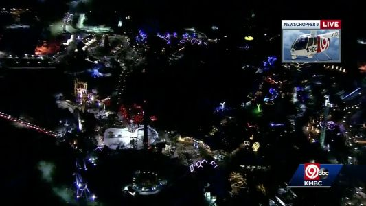 Worlds of Fun tests lights for WinterFest