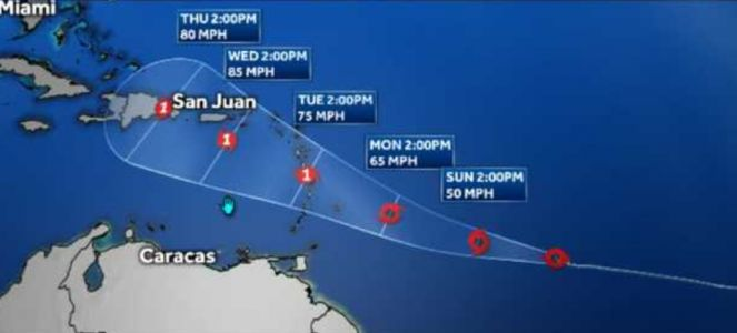 Tropical Storm Dorian is threatening the Caribbean and more storms could soak the US coast