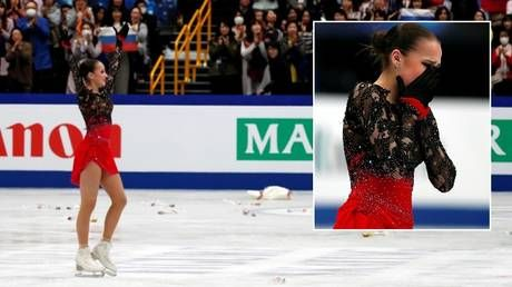 Russian figure skating star Alina Zagitova wins gold at world championships