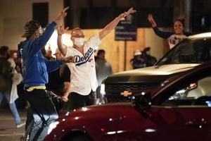 8 arrested in LA during Dodgers championship celebrations