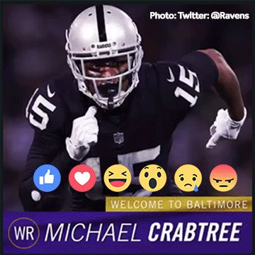Ravens sign former Raiders WR Michael Crabtree for 3 years