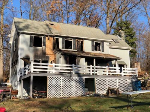 Fire heavily damages York County home