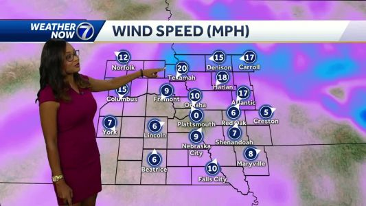 Storms move through northern counties, clouds move into Omaha