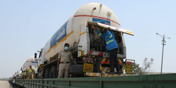 India is putting oxygen tankers on special express trains as hospitals run out of supplies for COVID-19 patients