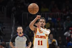 Young, Collins power Hawks past Pistons 122-104