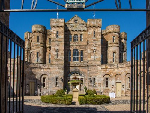 An 18th-century castle linked to the beheaded Mary, Queen of Scots has its own tavern and a cinema - and it's on the market for $9.7 million. Here's what the renovated property looks like