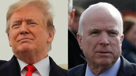 'Bizarre new low': Republicans outraged after Trump claims he approved McCain's funeral
