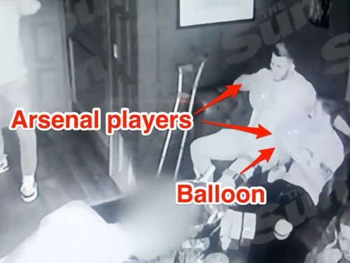 CCTV footage show 5 Premier League stars partying and sucking on balloons in an exclusive London club