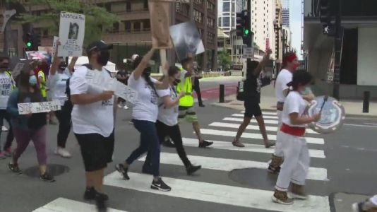 'Mothers United For Justice' gather downtown for police reform