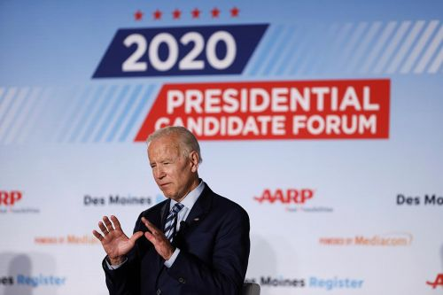 Biden chokes up during Iowa forum