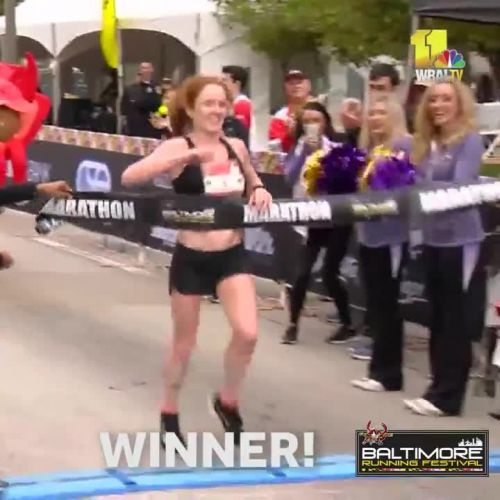 Watch the winners cross the 2018 Baltimore Marathon finish line