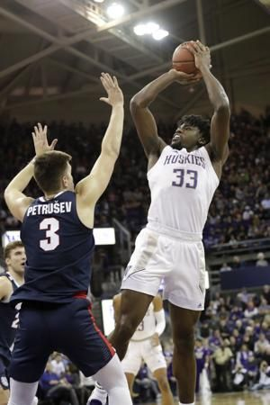 No. 9 Gonzaga uses late 3s to beat No. 22 Washington 83-76