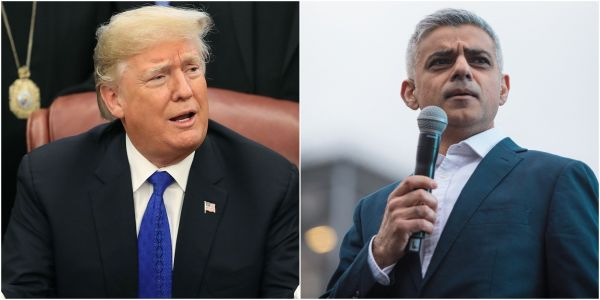 Trump mocked London mayor Sadiq Khan over his police force's hacked Twitter account