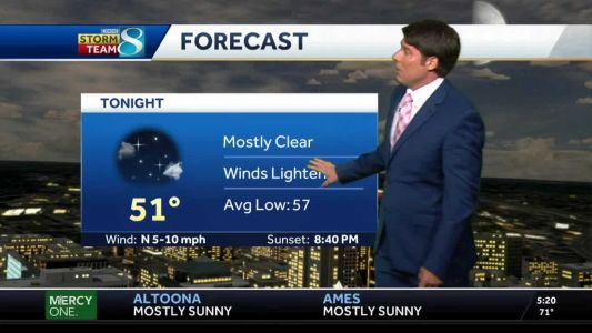 Clear, cool Friday evening ahead