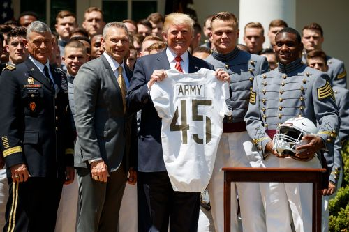 Trump tells Pentagon to let military academy athletes go pro after graduation
