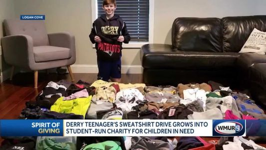 Derry teenager's sweatshirt drive grows into student-run charity for children in need