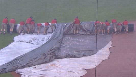 Orioles-Nationals game suspended because of grounds crew's tarp failure