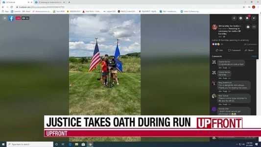 New justice takes oath during run