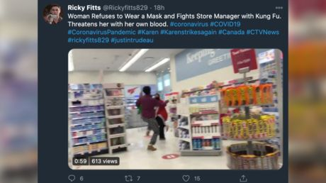 WATCH: Woman attacks drug store employee with 'kung fu' after reportedly being asked to wear a mask