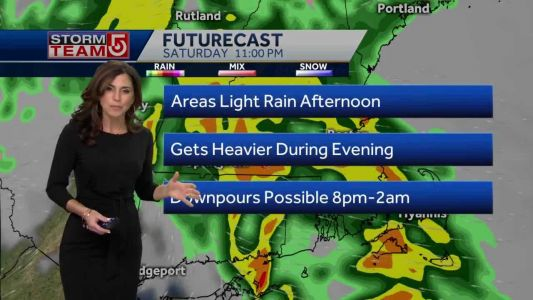Video: Increasing cloud cover, wet Saturday ahead